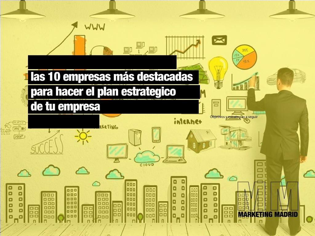 ranking empresas plan estrategico